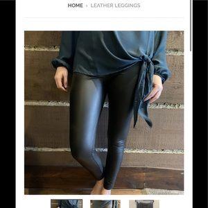 Seven Sisters Faux Leather Leggings